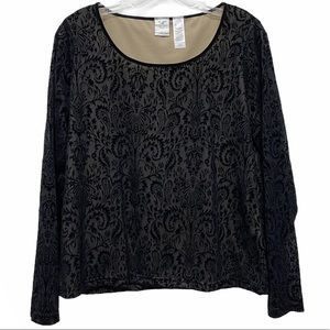 Emma James black velvet lined long sleeve large